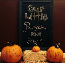 pregnancy announcement in the fall or thanksgiving