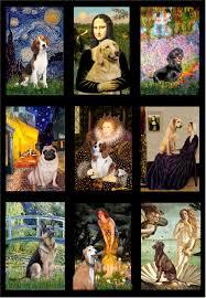dog breeds put into famous art masterpieces