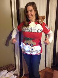 christmas vacation ugly christmas diy sweater complete with the