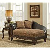 Floral Chaise Amazon Com Floral Chaise Lounge Upholstery San Marino Chocolate