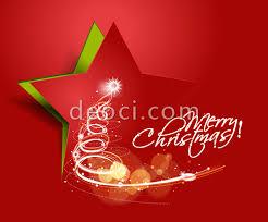 free red creative christmas cards pentagram background design