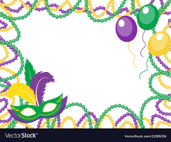 mardi gras frame mardi gras colored frame with a mask and vector image