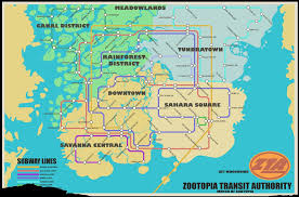 A Train Map Zootopia Disney Wiki Fandom Powered By Wikia