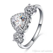 real crystal rings images 2018 brand gemstone rings 18k real gold plated heart zircon rings jpg