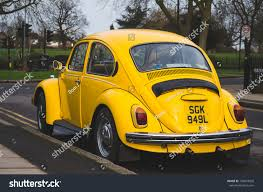 yellow volkswagen beetle royalty free london england march 3 2017 yellow stock photo 740018926