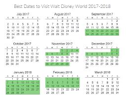 the best dates to visit walt disney world printable 2017 2018