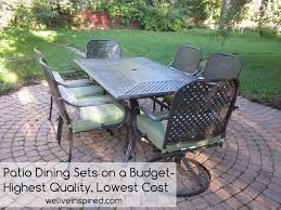 Hampton Bay Patio Dining Set - exterior enchanting patio design with comfortable hampton bay