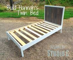 how to build a twin bed frame twin bed plans diy twin bed frame