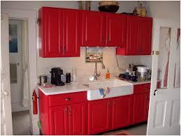 Restored Kitchen Cabinets Red Kitchen Cabinets Ideas Edgarpoe Net