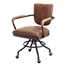 Leather Office Desk Chair Foster Desk Chair Vintage Style Leather Office Chair City Home