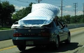 how not to carry a mattress on your car right driver highway