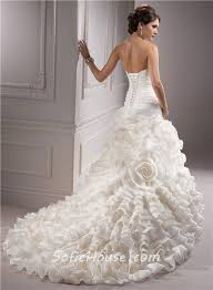 floral wedding dresses unique a line strapless layered ivory organza floral wedding dress