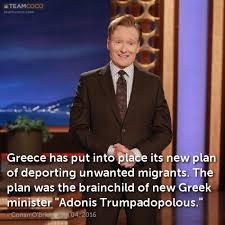 Adonis Meme - joke greece has put into place its new plan of deportin conan
