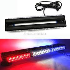 Led Light Bar Police by 36 Led Double Sided Car Warning Light Bar Aluminum Magnet Police