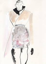 helen bullock sketches live from the rick owens show paris