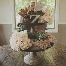 two tiered tray from magnoliamarket had fun decorating it for my