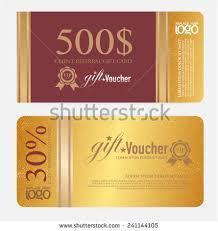 voucher voucher gold gift luxury certificate stock vector