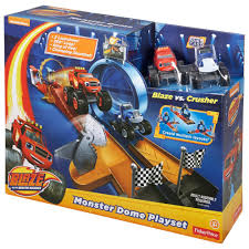 monster truck race track toys nickelodeon blaze and the monster machines monster dome playset