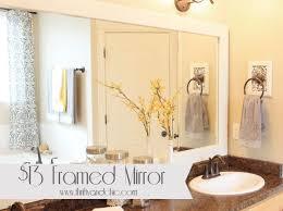 Bathroom Framed Mirrors by Best 25 Diy Framed Mirrors Ideas On Pinterest Framed Mirrors