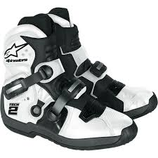 white motocross boots amazon com alpinestars tech 2 boots black 9 automotive