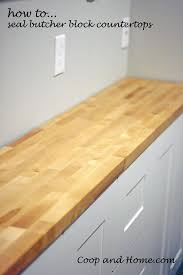 how to seal butcher block counter tops coop and home how to seal butcher block counters