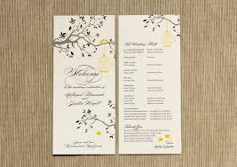 wedding prgrams programs for weddings isura ink