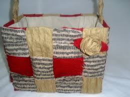 up the rainbow creek upcycled brown grocery bag basket