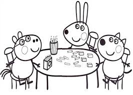 peppa pig friends studying math coloring peppa pig friends