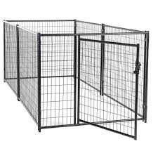 cl l home depot lucky dog 4 ft h x 5 ft w x 10 ft l modular kennel welded wire