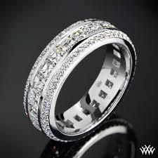 mens diamond wedding ring cast in 18k white gold this stunning custom diamond wedding ring