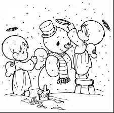 fabulous precious moments christmas coloring pages with angel
