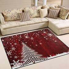 Area Rug Mat Naanle Winter Area Rug 5 X7 Tree