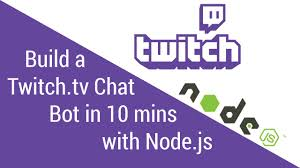 node js quick tutorial build a twitch tv chat bot in 10 minutes with node js tutorial
