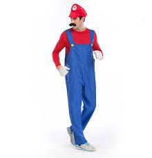 Super Mario Halloween Costume Halloween Costumes Men Super Mario Luigi Brothers Plumber Costume