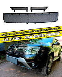 renault duster black car mesh for renault duster 2015 2016 radiator grille car styling