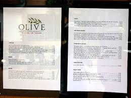 cuisine saison menu board picture of olive cuisine de saison siem reap tripadvisor