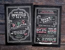 babyq chalkboard couples co ed baby shower bbq invitation babyq