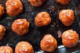 thanksgiving ham recipes with pineapple pineapple glazed ham balls recipe simplyrecipes com