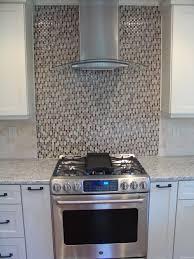 Kitchen With Glass Tile Backsplash Kitchen Renovation Chimney Hood Vent And Glass Tile Backsplash