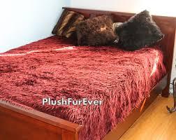 Faux Fur Comforter Set King White Mongolian Faux Fur Bedspread Luxury King Queen Twin Size