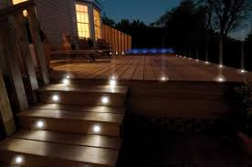 Outside Patio Lights Outdoor Step Lighting Brilliant Attractive Ideas Led Lights Within