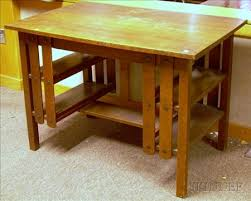 Flat Top Desk Wolverine Mission Oak Flat Top Desk Bidsquare