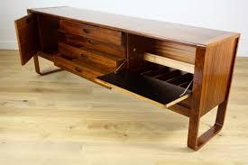 uniflex mid century modern design rosewood sideboard credenza with
