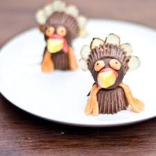 thanksgiving craft chocolate turkeys made from