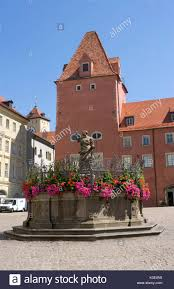 regensburg square haid baroque justice u0027s well red house with