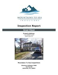 sample house inspection report sample reports mountains to sea inspections