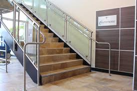 Stainless Steel Banister Metal Handrail U0026 Guardrail Systems Made With Steel U0026 Glass