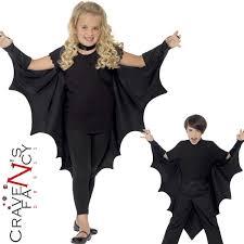 kids vampire bat wings halloween cape child girls boys fancy dress