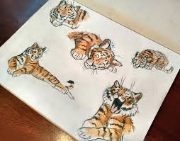 tiger sketches by flash lioness fur affinity dot net