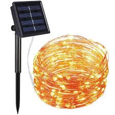 halloween lights uk amir solar powered string lights 100 led starry fairy amazon co